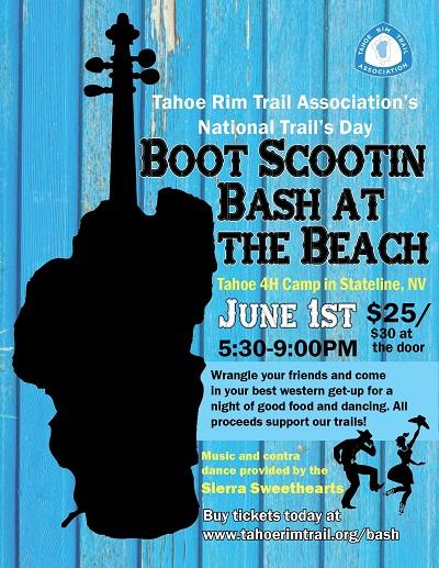 Tahoe Rim Trail fundaiser: Boot Scootin' Bash at the Lake