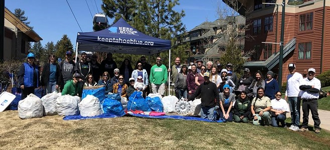 Keep Tahoe Blue Earth Day volunteers gather 750 pounds of trash and 6000 cigarette butts