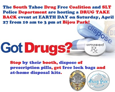 South Lake Tahoe Drug Take Back Day during Earth Day on Saturday