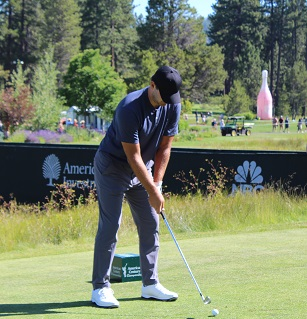 Tony Romo stays on top of the leaderboard at American Century Golf in Lake Tahoe