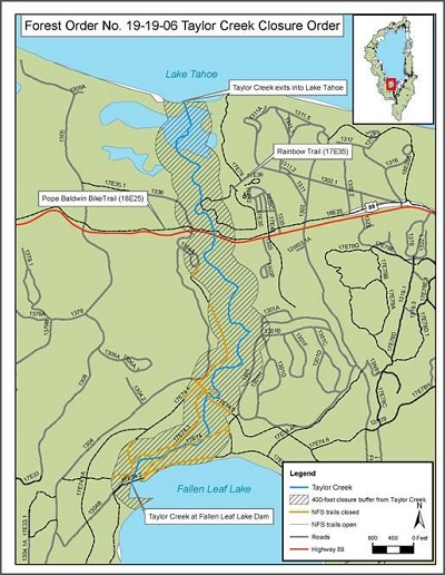 Forest Order closes Taylor Creek and land around it; Rainbow Trail still open