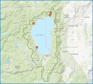Prescribed fire operations at four locations in Lake Tahoe Basin, weather permitting