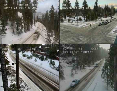Latest storm passing Lake Tahoe, chain controls up - Bigger snowfall expected Thursday
