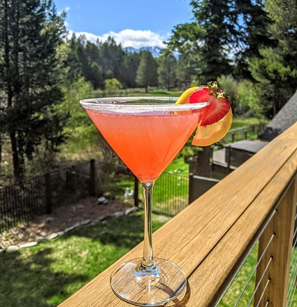 Cocktails on Brenda's Balcony has become a pandemic social media hit