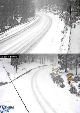Lake effect snow could bring additional six inches of snow to South Shore Lake Tahoe Monday night